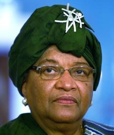 Ellen Johnson Sirleaf, présidente du Liberia