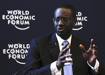 Tidjane Thiam au forum de Davos en janvier 2012