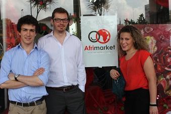 François, Jeremy et Rania, co-fondateurs d'Afrimarket