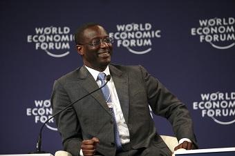 Tidjane Thiam, nouveau PDG de la prestigieuse banque suisse Crédit Suisse