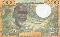 Un billet de 1000 francs cfa