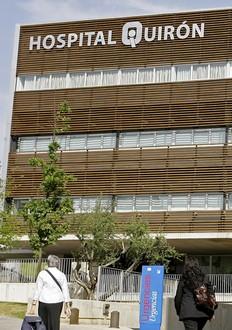 La clinique Quiron, où est hospitalisé le président gabonais Omar Bongo