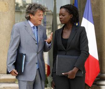 Rama Yade en compagnie de Jean-Louis Borloo