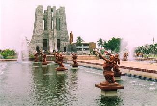 Le monument dédié à Kwame Nkrumah à Accra