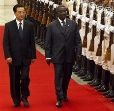 L'actuel président du Ghana John Atta Mills à Pékin le 20 septembre 2010