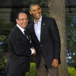 Fran�ois Hollande et Barack Obama