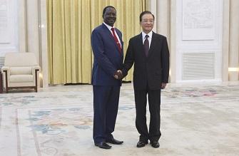 Le premier ministre chinois et son homologue kenyan Raila Odinga