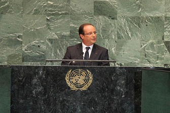 Fran�ois Hollande � l'ONU