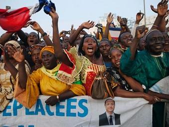 Les Maliens ont acclamé le président français