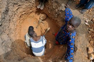 Mine d'or artisanale au Mali