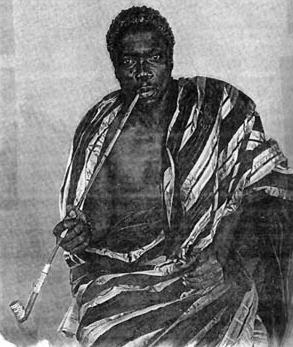 Behanzin (1844-1906), roi du Dahomey acheta des fusils et des canons à des marchands allemands et se constitua une armée de 15 000 hommes afin de resister à la pression etrangère sur son royaume