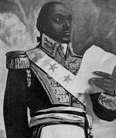 Toussaint Louverture (1743?-1803) né esclave, puis affranchi, traitera d'égal à égal avec Napoléon avant d'etre enfermé sans jugement au fort de Joux où il mourra en détention