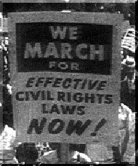 Des manifestants pour les droits civiques