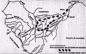 Carte de l'empire de Soundjata
