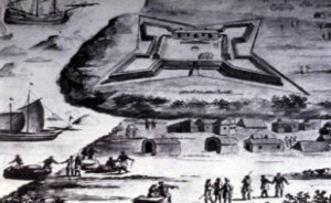 Fort anglais de Princestown, Cote d'or (Ghana),  1688