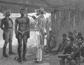 Achat d'esclaves dans un barracone, marché d'esclaves, Havane, Cuba, 1837.