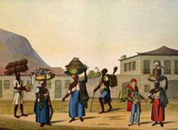 """Esclaves vendeurs ambulants, dits """" de gain """",  Rio de Janeiro, 1819-1820"""