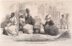 Esclaves vendeuses de patates douces, Charleston, Caroline du Sud, 1861