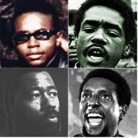 Bobby Hutton, Bobby Seale, Eldridge Cleaver et Stokely Carmichael