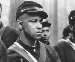 "Denzel Washington dans ""Glory"""