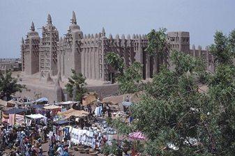 La ville de Djenné dans l'actuel Mali à la fin des années 80