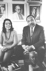 Martin Luther King et sa femme, Coretta Scott King