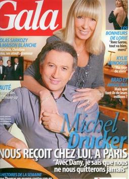 Michel Drucker fait pendant ce temps la couverture de Gala (753 du 14 nov 2007)