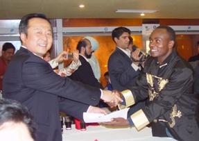 Avec le président de la fédération chinoise