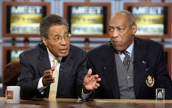 Bill Cosby (à droite) sur un plateau télé
