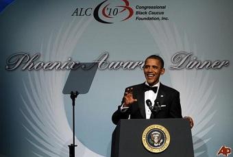 Barack Obama lors du dîner de la fondation du Congressional Black Caucus