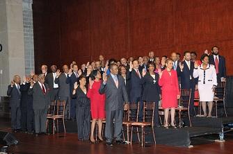 Prestation de serment de membres du Black Caucus