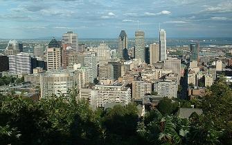 Une vue de la ville de Montreal