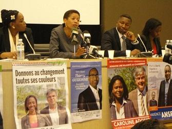 Eugénie Diecky, George Pau Langevin (ministre déléguée à l'éducation), Kag Sanoussi et Amina Niakhate