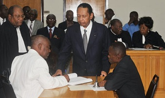Jean Claude Duvalier ce jeudi à Port-au-Prince