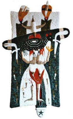 Et dieu créa la pintade, 165 cm x 98 cm, 2003