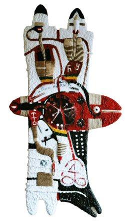 """Amatafrika """" Will be Back """" , 152 cm x 80 cm 2003."""