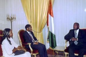 Jacques Bonjawo reçu par Laurent Gbagbo lors d'un séjour à Abidjan