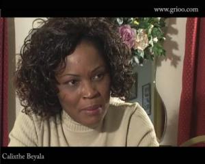 Calixthe Beyala pendant l'interview