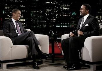 Barack Obama reçu dans l'émission de Tavis Smiley sur PBS en octobre 2007