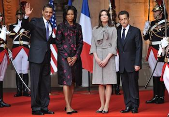 Enfin! Barack et Michelle Obama, avec Nicolas Sarkozy et Carla Bruni ce vendredi 3 avril à Strasbourg