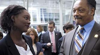 Rama Yade et Jesse Jackson à Washington