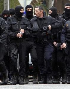Les hommes du Raid apr�s l'assaut contre Mohamed Merah ce jeudi � Toulouse