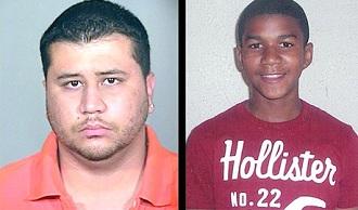 George Zimmerman (� gauche) a �t� laiss� libre apr�s avoir tu� Trayvon Martin (� droite) qui n'�tait pas arm�