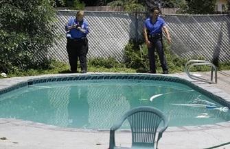 La piscine dans laquelle Rodney King a été retrouvé mort