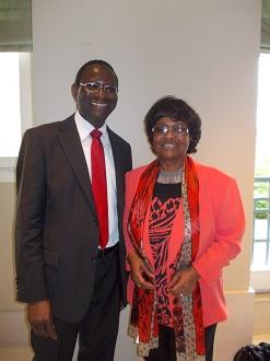 Le député Dr. Karamba Diaby (SPD) et Dr. P. Herzberger-Fofana