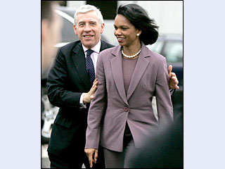 Condoleezza Rice et Jack Straw