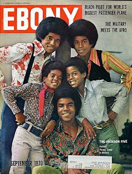 Les Jackson Five en couverture d'Ebony de septembre 1970