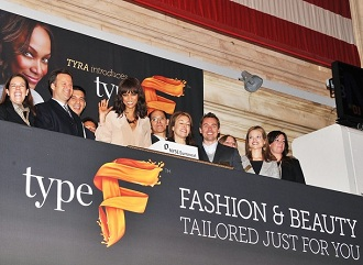 Tyra Banks � la bourse de New York le 15 mars 2011