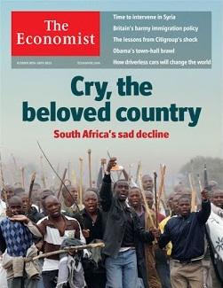Le magazine ''The Economist'' a suscité de vives réactions en Afrique du Sud