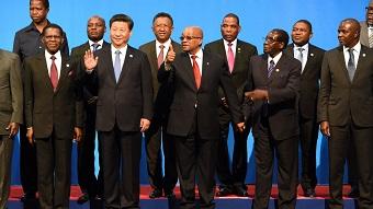Xi Jinping et ses homologues africains en Afrique du Sud